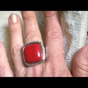 Designer Cabachon Silver Ring